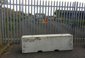concrete barriers for site security