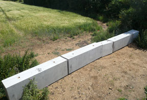 concrete barriers for boundary security