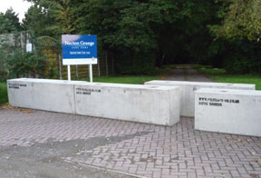 concrete barriers to stop trespassers