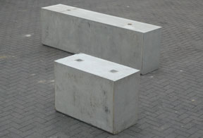 concrete barriers for site protection