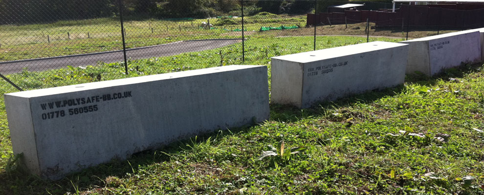 Polysafe concrete barriers protect rural properties