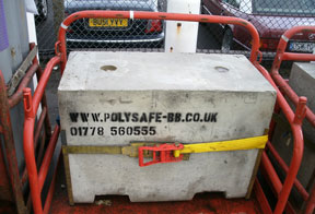 concrete barriers for lorry ballast