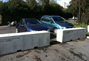 concrete barriers for traffic management