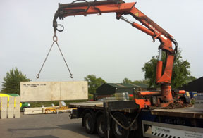 concrete barriers prepared sites